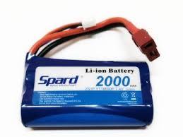 <b>Аккумулятор Li</b>-<b>Ion Spard 2000mAh</b>, 7,4V, 15C, T‐plug для Remo ...