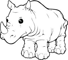rhinoceros coloring page rhino pages printable colouring woolly of rhinos