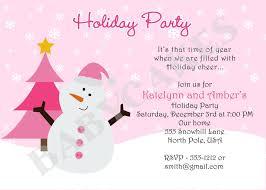 Holiday Party Invitation Wording Examples - Sansalvaje.com