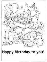 Birthday coloring pages for adults. Free Printable Happy Birthday Coloring Pages For Kids