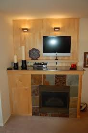 ... Artistic Home Interior Design Ideas With Fireplace Wall Sconces  Decoration : Captivating Brown Ceramic Tile Wall