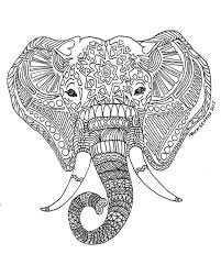 Small Picture Printable Zen Critters Sun Elephant Coloring Page Coloring for