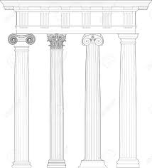 Ionic Four Classical Orders Stock Vector 11950988 Corinthian