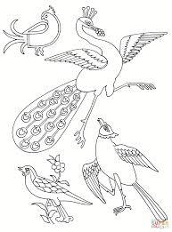 Disegno Di Uccelli Stilizzati Da Colorare Disegni Da Colorare E Con
