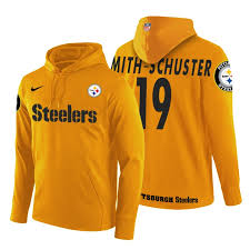 Smith-schuster Hoodie Pittsburgh Juju Steelers Yellow Pullover Team Logo