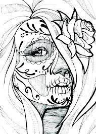 Sugar Skull Coloring Coloring Skull Sugar Skull Coloring Skulls
