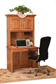 amish flat top computer desk with hutch top 36