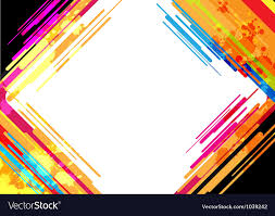 Colorful Designs Abstract Colorful Frame Design