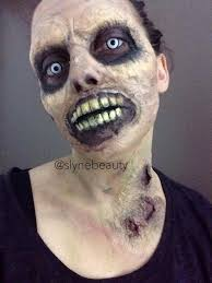 the walking dead zombie make up art by slynebeauty time lapse on her