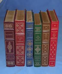 6 franklin mint library leather bound classic hard cover books 1970 s 80 s