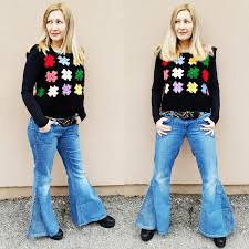 grab the info behind my preloved outfit the tute s to create your own bell bottoms flares on thriftythursday