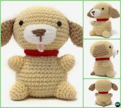 Crochet Dog Pattern Extraordinary DIY Crochet Amigurumi Puppy Dog Stuffed Toy Free Patterns