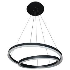 modern chandelier black. VONN Lighting Tania Duo Collection 24 In. Black / Nickel LED Adjustable Modern Chandelier- Chandelier