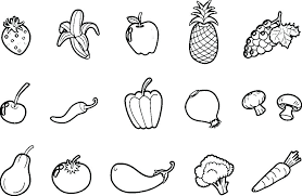 Images Of Printable Fruit And Vegetable Coloring Pages