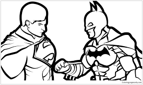Color them in online, or print them out and use crayons, markers, and paints. Batman Vs Superman 2 Coloring Pages Cartoons Coloring Pages Free Printable Coloring Pages Online