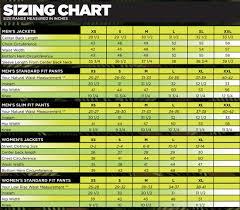 Pants Size Chart Men