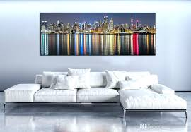 new city canvas painting panoramic home decor wall art picture landscape digital uk  on digital wall art uk with 3 piece canvas wall art landscape orange multi panel panoramic uk