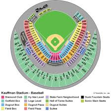 Royals Seating Chart Diamond Club Kauffman Stadium Royals Tickets For Less