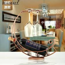 wine racks wine rack with glass holder com creative metal wine rack holder hanging