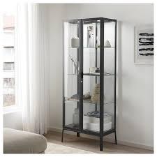 milsbo glass door cabinet anthracite