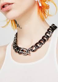 big chain link black necklace dolls kill
