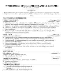 Warehouse Supervisor Resume Warehouse Manager Sample Resume Familycourt Us