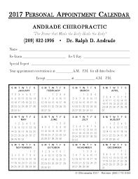 Appointment Calander Calendar Appointment Cards Chiromania