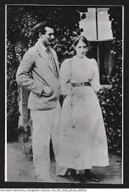 George Duckworth and Virginia Woolf standing outdoors. Dimbola ...