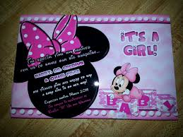 Minnie Mouse Baby Shower Decorations Minnie Mouse Baby Shower Invitations Fleecinessinfo