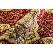 rug red and gold area rugs luxury home haus copal red gold area rug