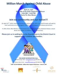 child abuse flyers million march against child abuse april 22 in santa fe los alamos