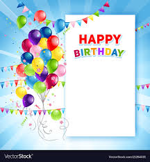 Templates For Birthday Cards Festive Happy Birthday Card Template
