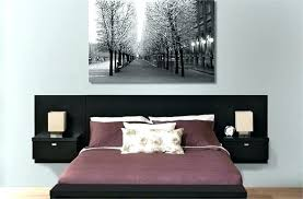 interior wall mounted headboards ikea modern walled king upholstered diy super queen for beds regarding