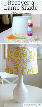 favorite fabric covered lampshade