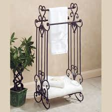 Bathroom Bathroom Shelves Design Ideas With Towel Racks Hardware - Bathroom towel bar height