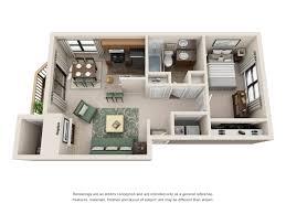 1 bed 1 bath floor plan at soro bluff beaverton or