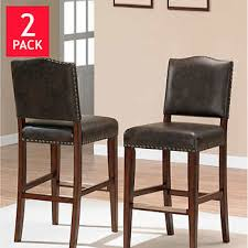 Rochester CounterHeight Dining Chair 2pack Leather Bar Stools With Back 332