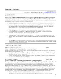 sample resume management assistant