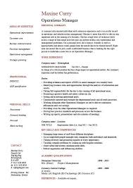 Operations Manager Resume Job Description Example