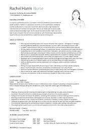 Resume Examples For Nursing Nursing Resume Objective Documents In ...