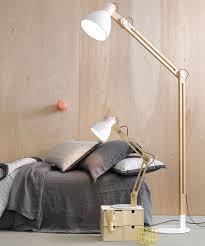 beacon lighting meyer modern 1 light adjule wooden floor lamp in ash with white metal