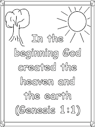 Creation Coloring Sheets The Creation Coloring Pages For Children
