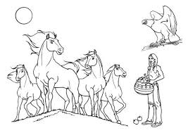 Small Picture Indian Horses Coloring Page Download Print Online Coloring