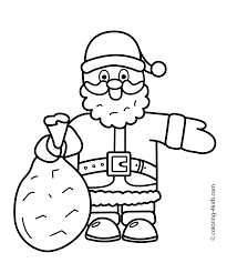 Santa Claus Christmas Coloring Pages For