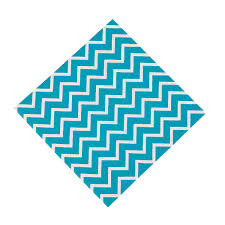 Light Blue Chevron Paper Napkins Chevron Luncheon Napkins Baby Shower Turquoise Chevron