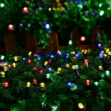 Rgb Outdoor Christmas Lights Us 3 93 31 Off 10m Garland Christmas Lights Rgb Led String Light Indoor Outdoor Xmas Tree Decoration 100 Leds Waterproof Holiday Fairy Lights In