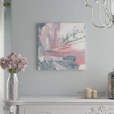 U0027Whitewashed Blush Iu0027 Acrylic Painting Print On Wrapped Canvas