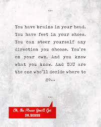 Dr Seuss Oh The Places You Ll Go Quotes Impressive Drseuss Quotes Oh The Places You'll Go Literary Quotes Book
