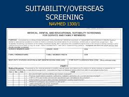 navy overseas screening form duty status processing and overseas suitability screening ppt
