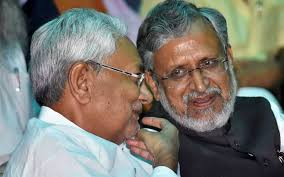 bihar chief minister nitish ar and his deputy sushil modi at the cabinet expansion pti